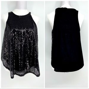 Rue21 sequin front tank top size large